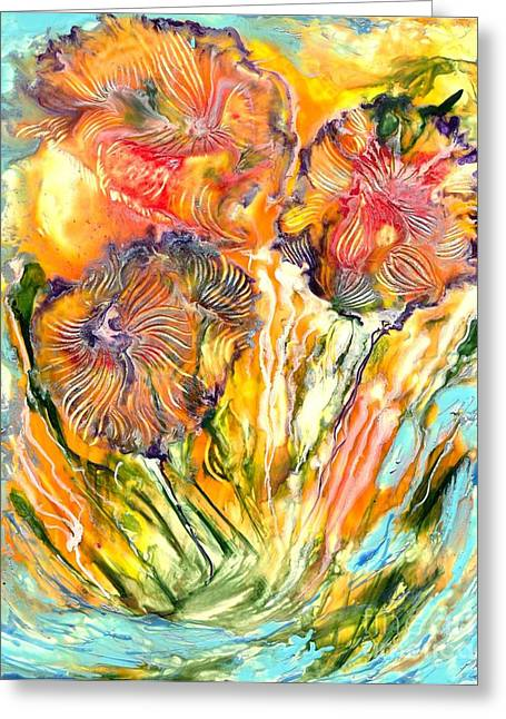 Healing Blossoms For Heather Ward Greeting Card by Heather Hennick