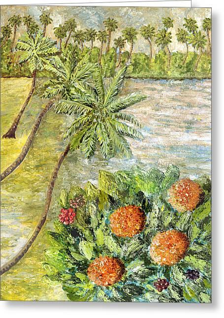 Healing Flower Of Rugmini A Greeting Card by Thecla Correya