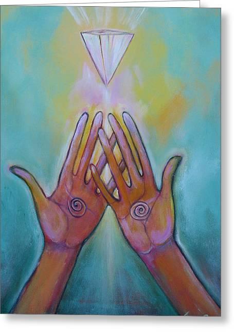 Healing Hands Greeting Card by Tara Rieke-Elledge