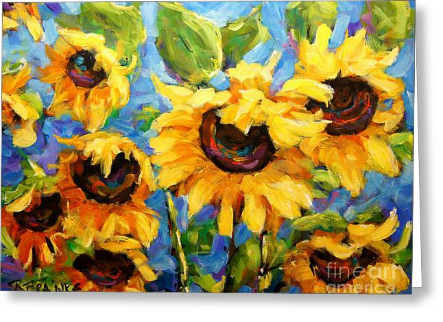 Healing Light Of Sunflowers Greeting Card by Richard T Pranke