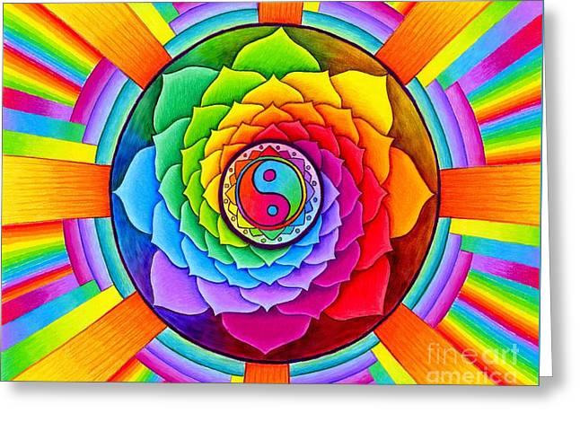 Healing Lotus Greeting Card by Rebecca Wang