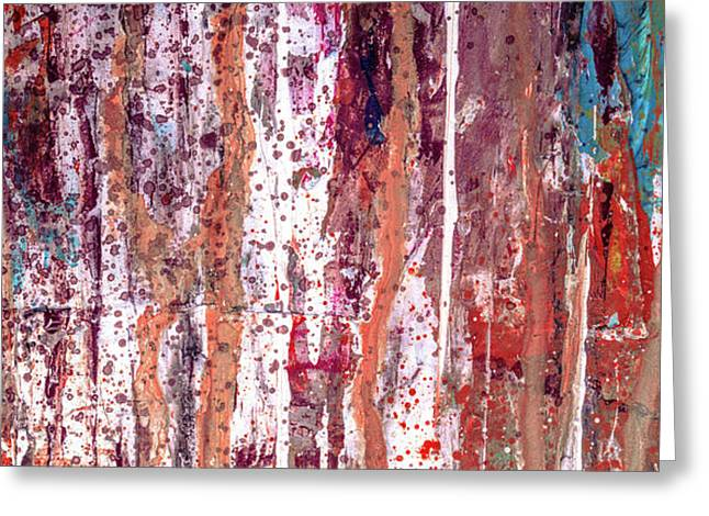 Healing Mind - Contemporary Large Abstract Art Painting Greeting Card