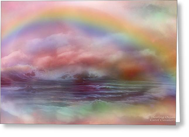 Healing Ocean Greeting Card by Carol Cavalaris