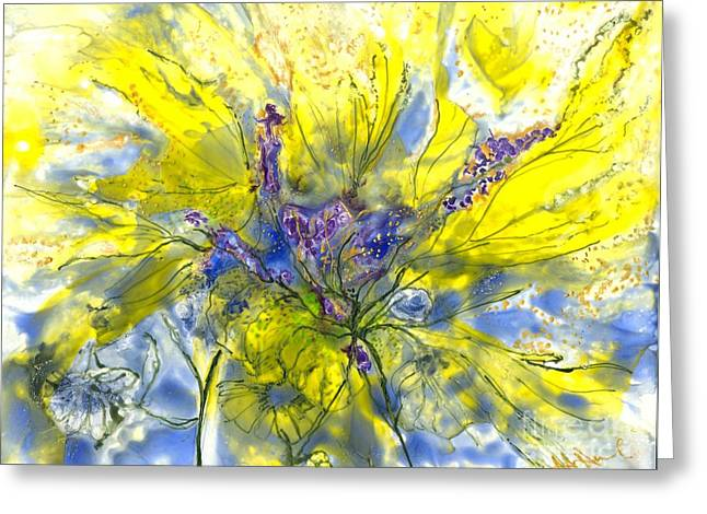 Healing Painting For Viet Greeting Card by Heather Hennick