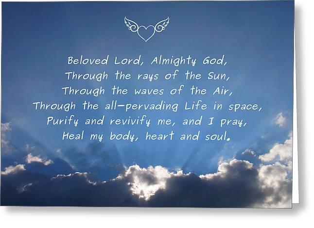 Healing Prayer Greeting Card