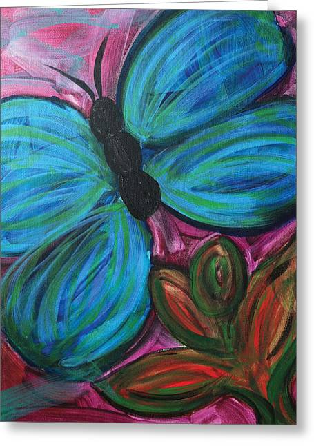 Healing Rain Butterfly Greeting Card by Bethany Stanko