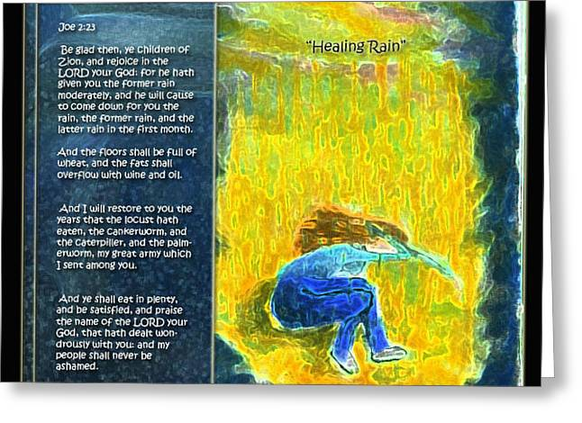Healing Rain Greeting Card by Cassandra Donnelly