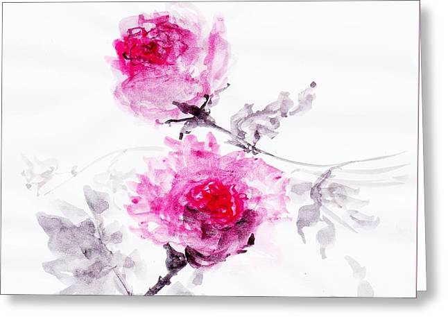 Healing Roses -05 Greeting Card by Sweeping Girl