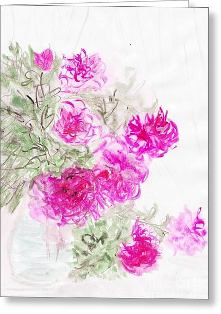 Healing Roses -15 Greeting Card by Sweeping Girl