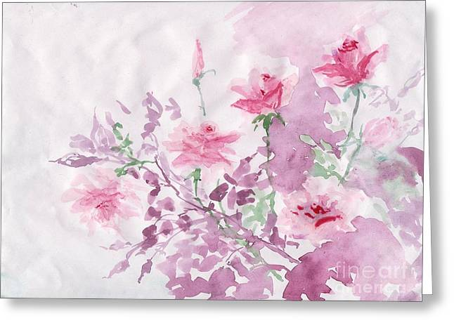Healing Roses -17  Greeting Card by Sweeping Girl