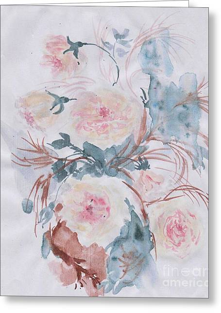 Healing Roses -18 Greeting Card by Sweeping Girl