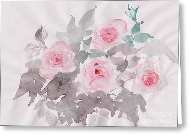 Healing Roses -19 Greeting Card by Sweeping Girl