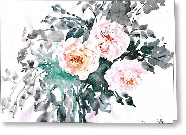 Healing Roses -20 Greeting Card by Sweeping Girl