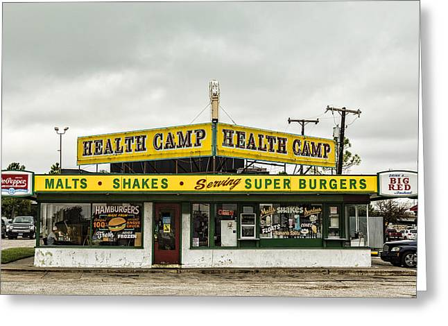 Health Camp Greeting Card by Stephen Stookey