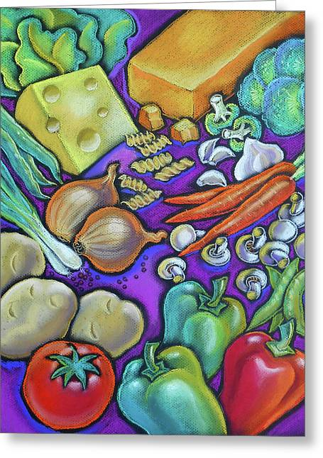 Health Food For You Greeting Card by Leon Zernitsky