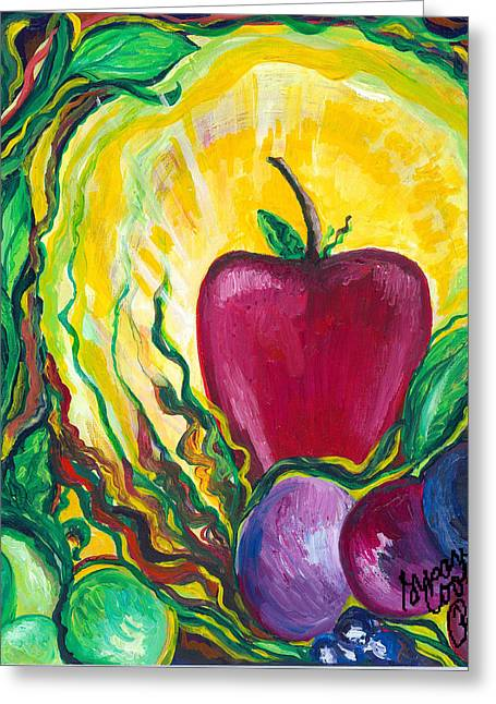 Health Greeting Card by Susan Cooke Pena