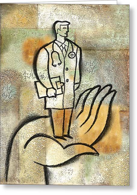 Healthcare And Phisician Greeting Card by Leon Zernitsky