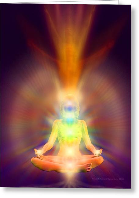 Healthy Aura Greeting Card