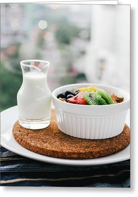 Healthy Breakfast Greeting Card by Happy Home Artistry