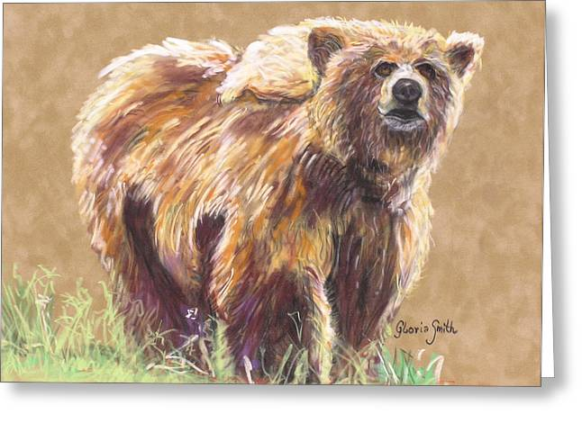 Healthy Brown Bear Greeting Card
