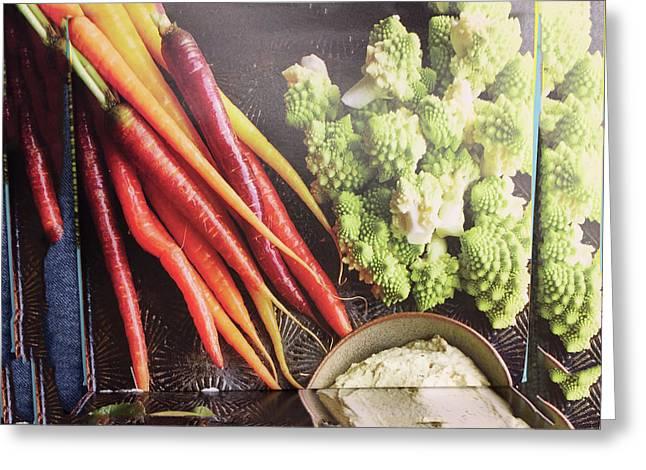 Healthy Food Veggie Salad Kitchen Chef Cuisine Birthday Christmas Festivals Mom Dad Festivals Sister Greeting Card by Navin Joshi
