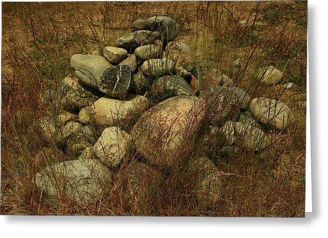 Heap Of Rocks Greeting Card