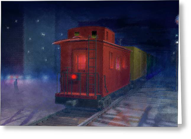 Caboose Digital Greeting Cards - Hear that lonesome whistle Greeting Card by Carol and Mike Werner
