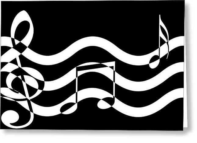 Hear The Music Greeting Card by Evelyn Patrick