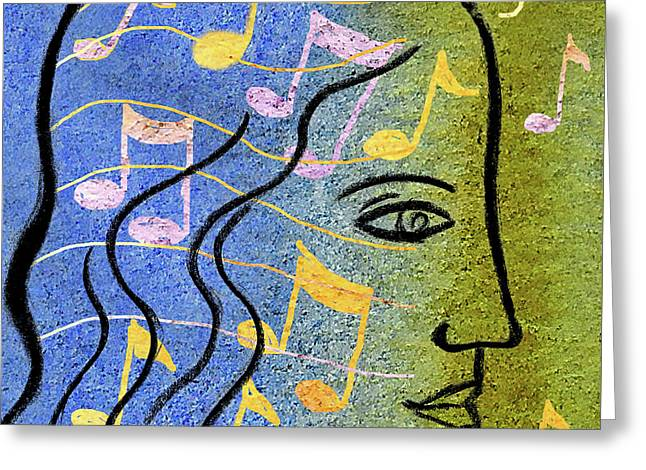 Hearing Music Greeting Card by Leon Zernitsky