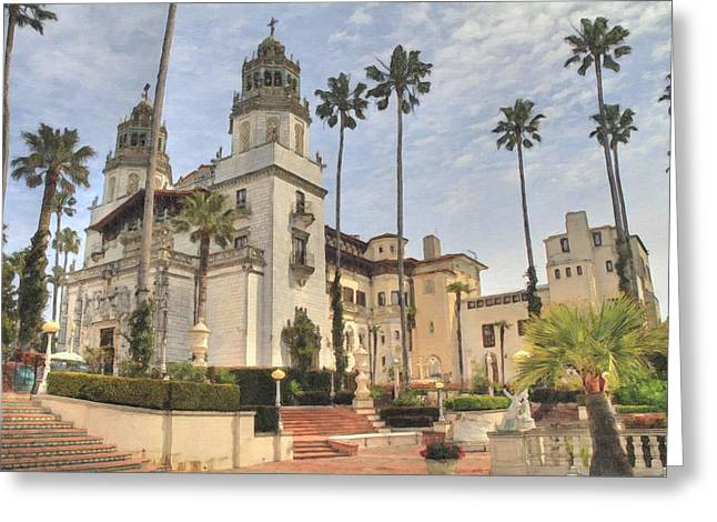 Hearst Castle Greeting Card by Donna Kennedy