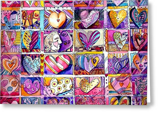 Heart 2 Heart Greeting Card by Mindy Newman