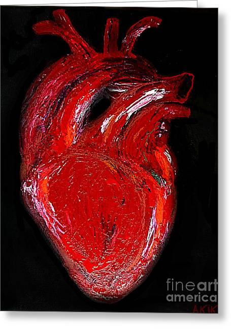 Heart Greeting Card by Akiko Okabe