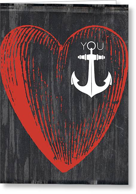 Heart Anchor Greeting Card