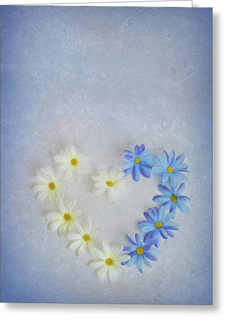 Heart And Flowers Greeting Card