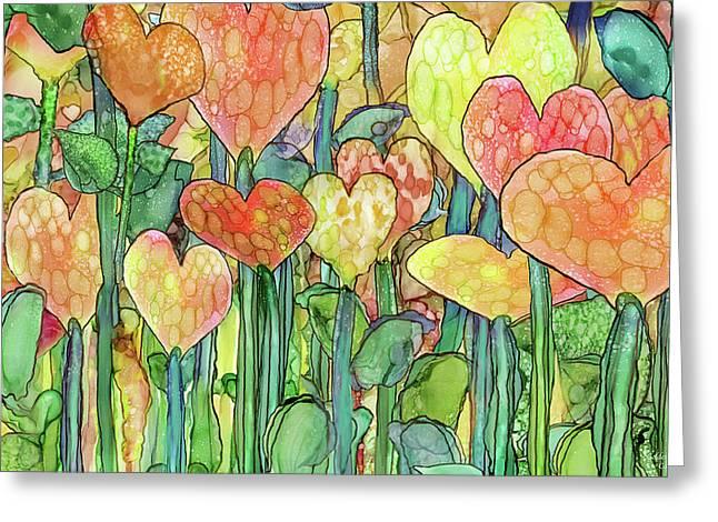 Heart Bloomies 3 - Golden Greeting Card