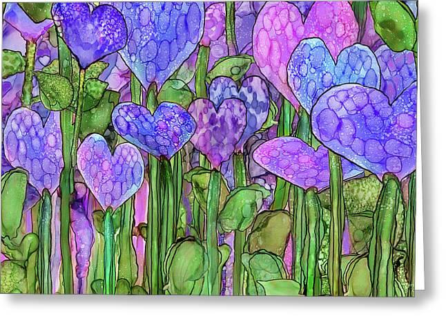 Heart Bloomies 3 - Purple Greeting Card