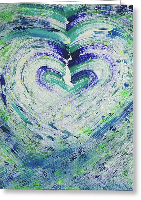 Heart Centered Peace And Love Greeting Card
