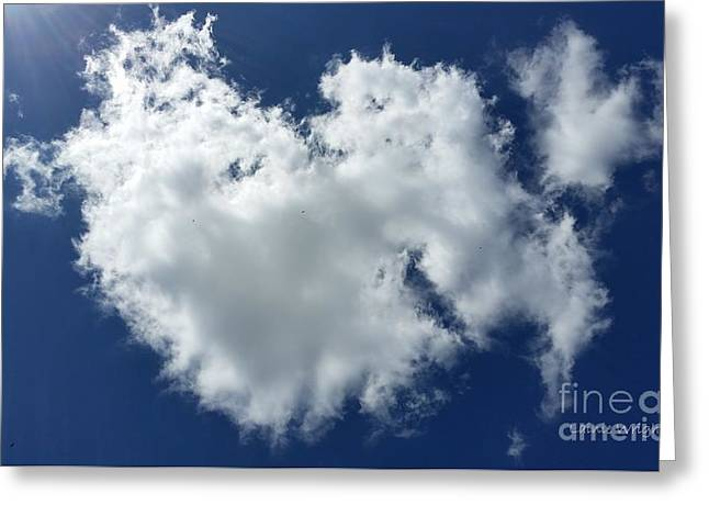 Heart Clouds Greeting Card by Lainie Wrightson