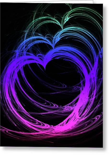 Heart Colors Greeting Card