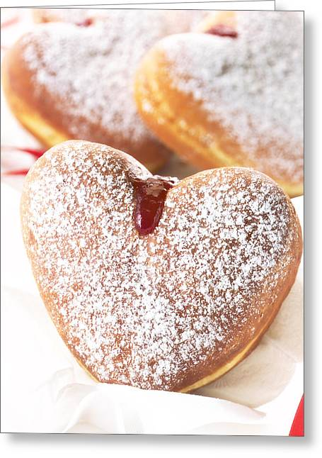 Heart Donuts Greeting Card by Federico Arce