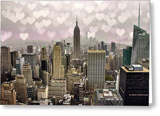 Heart Empire Greeting Card by Martin Newman