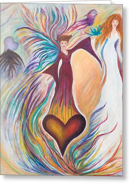 Heart Goddess Greeting Card by Leti C Stiles