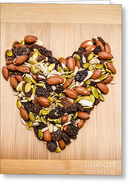 Heart Healthy Snacks Greeting Card by Jorgo Photography - Wall Art Gallery