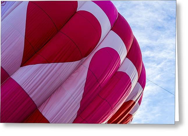 Heart Hot Air Balloon Greeting Card by Teri Virbickis