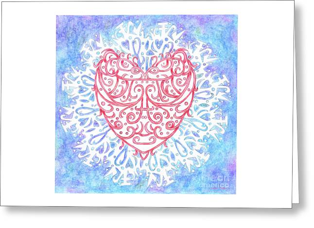 Heart In A Snowflake II Greeting Card