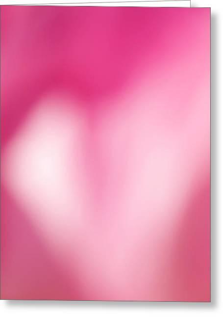 Heart In Pink Greeting Card by Jouko Mikkola