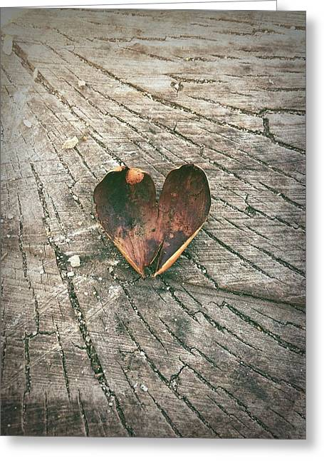 Heart In The Woods Greeting Card by Robert Chambers