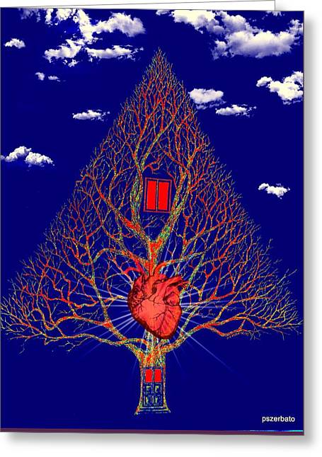 Heart Is The Abode Of The Spirit Greeting Card