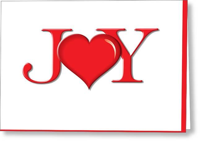 Heart Joy Greeting Card by Greg Slocum