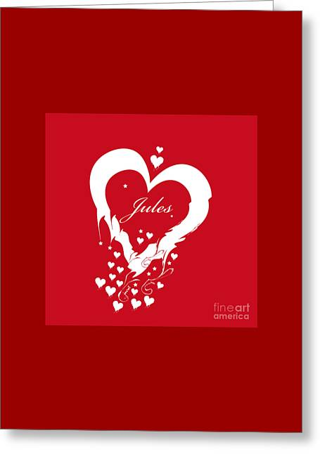 Jules Heart M1 Greeting Card